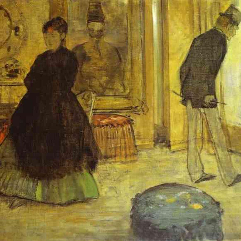 Intérieur avec deux personnages - Degas