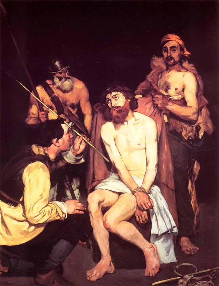 Jésus moqué par les soldats - Manet