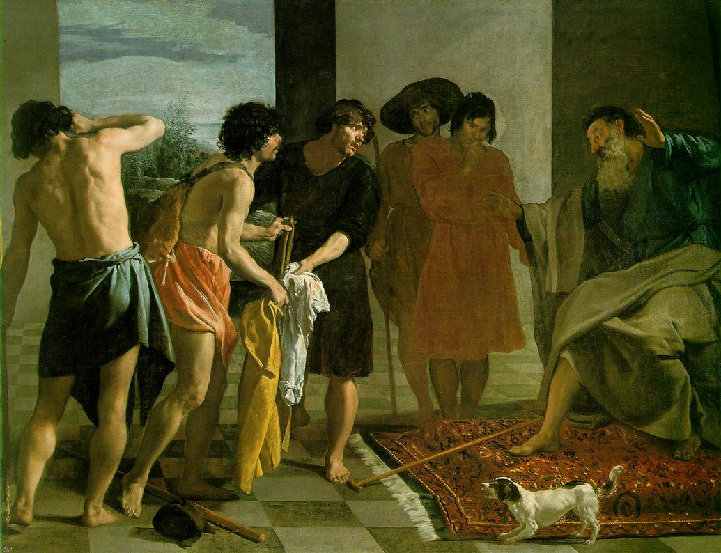 Jacob recevant la tunique de Joseph - Velazquez