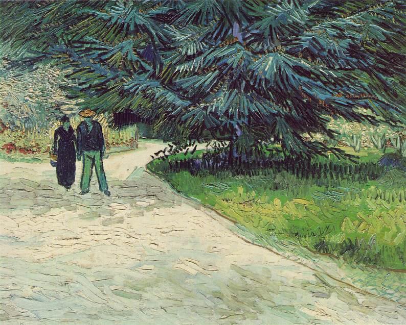 Jardin public à Arles le jardin du poète - Van Gogh