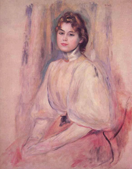 Jeune femme assise - Renoir