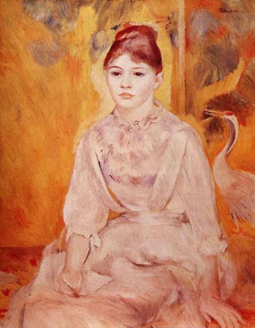 Jeune fille au cygne - Renoir