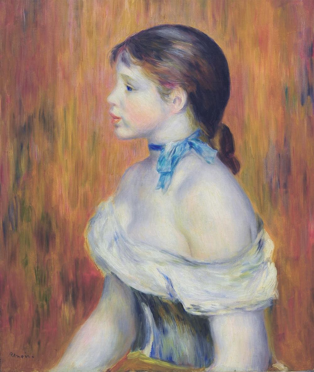 Jeune fille au ruban bleu - Renoir