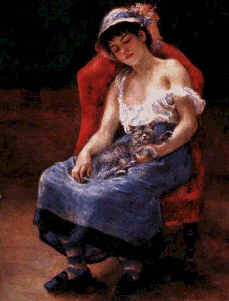 Jeune fille endormie - Renoir