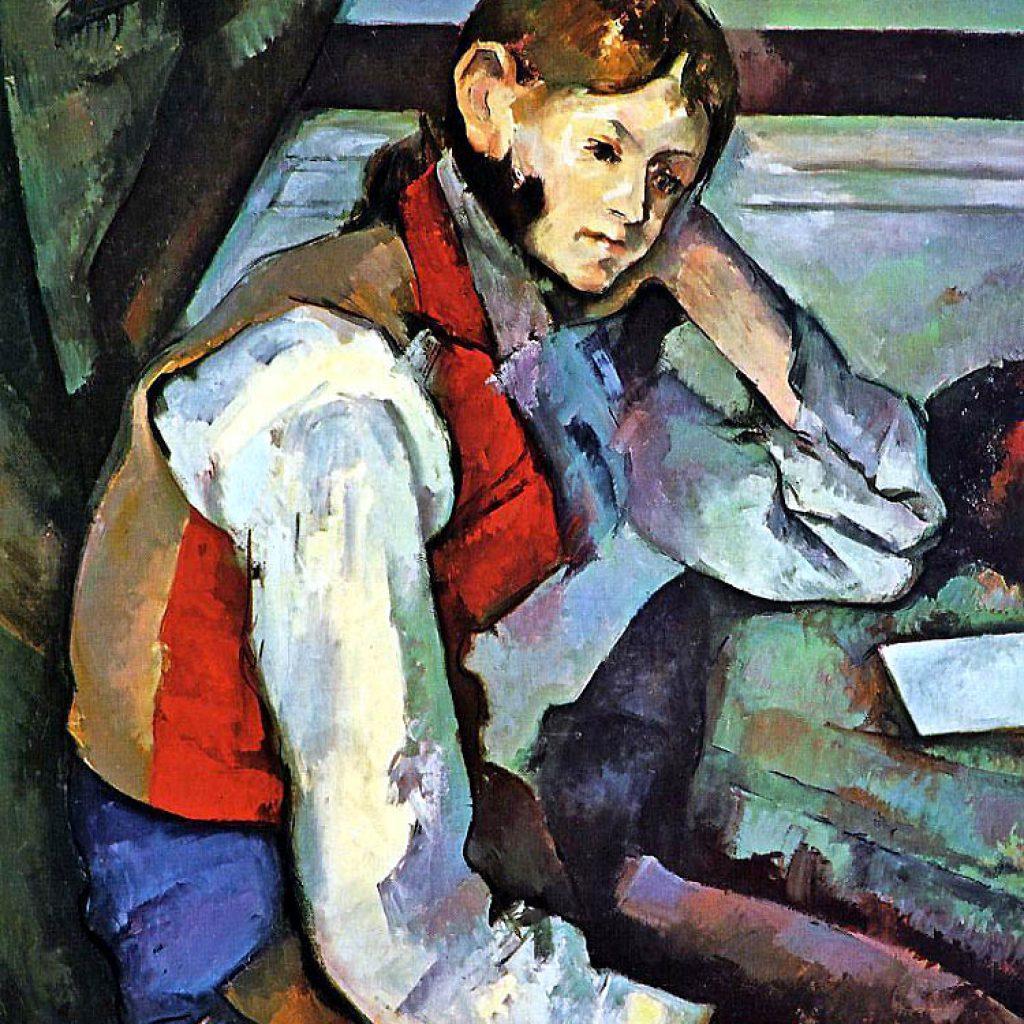 Jeune garçon au gilet - Cézanne