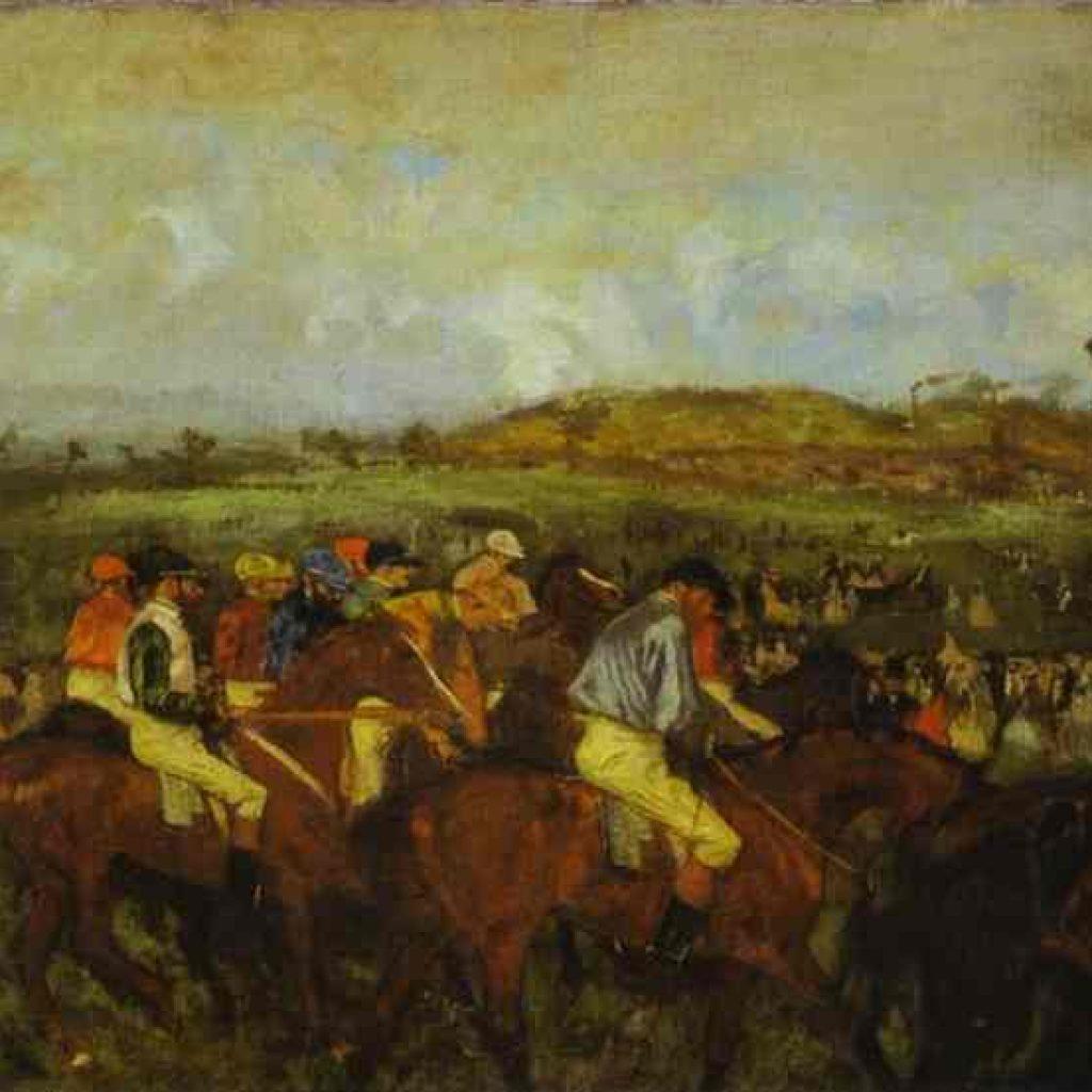 Jockeys avant le départ - Degas