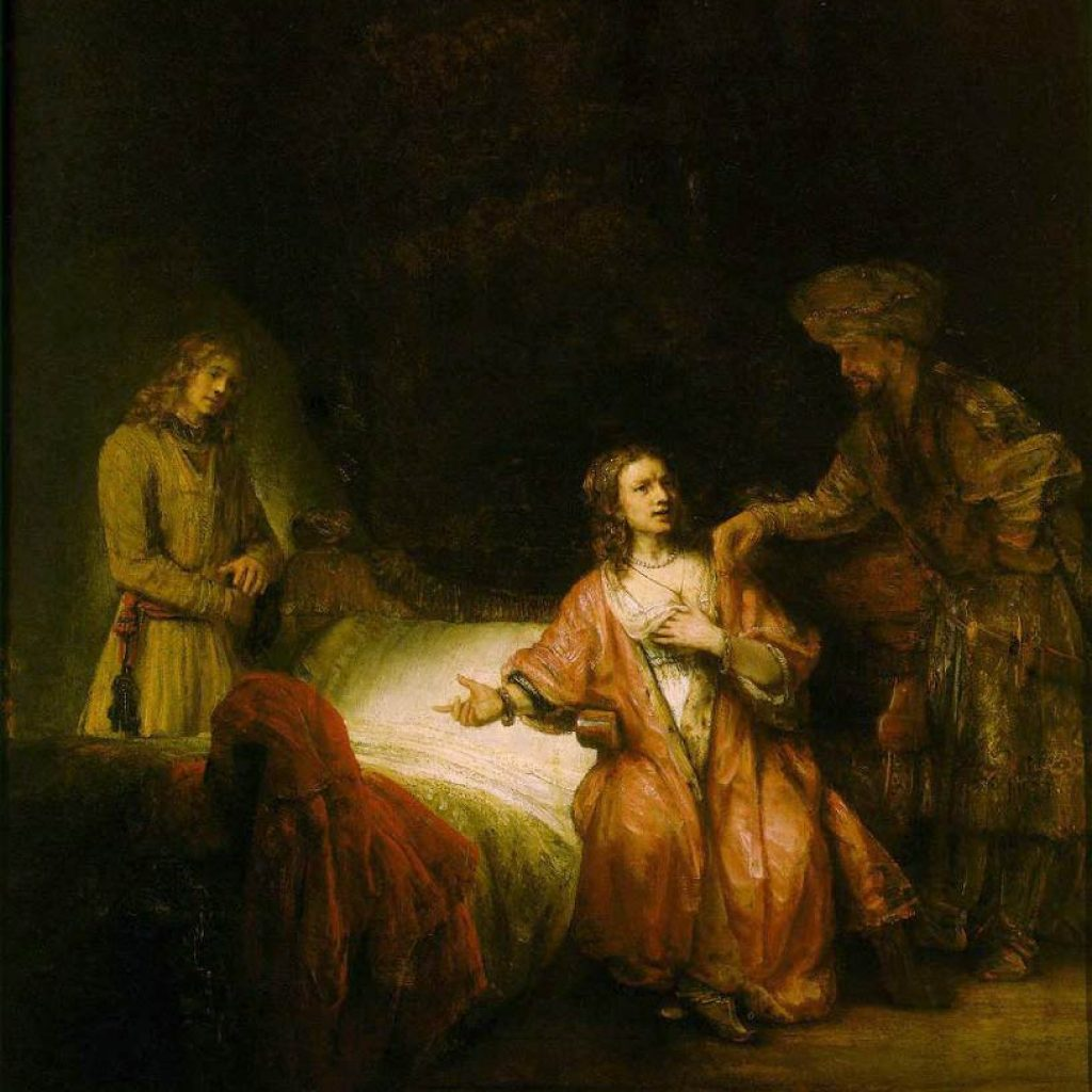 Joseph accusé par la femme de Potiphar - Rembrandt
