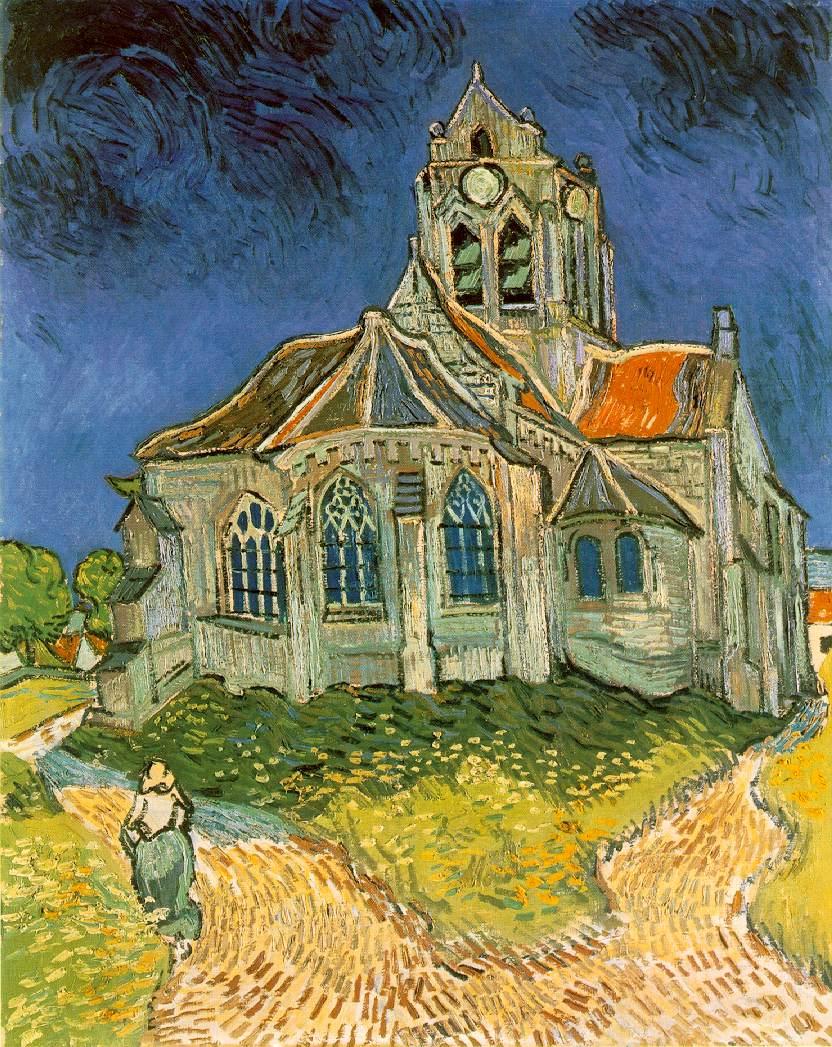 L'église d'Auvers-sur-Oise - Van Gogh