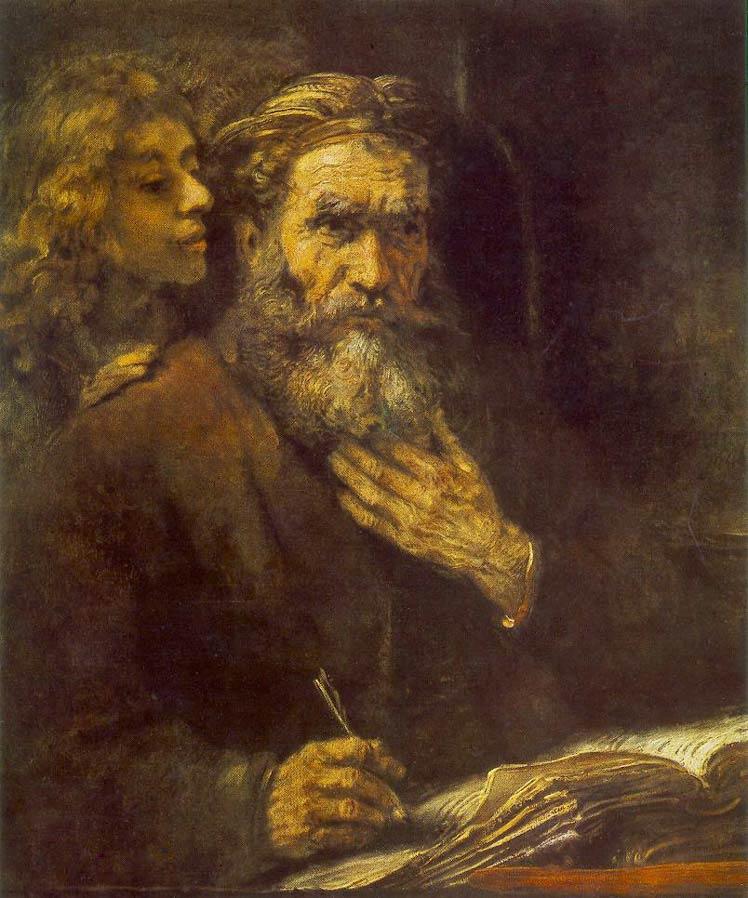 L'évangéliste Matthieu - Rembrandt