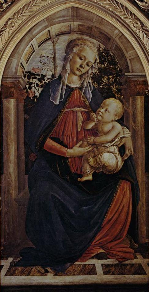 La Madone à la Roseraie - Botticelli