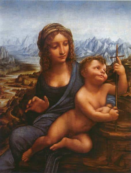La Madone au fuseau - De Vinci