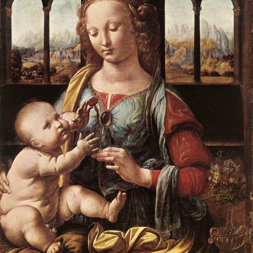 La Madonne à l'oeillet - De Vinci