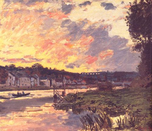 La Seine à Bourgival le soir - Monet