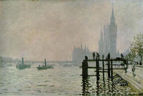 La Tamise à Westminster - Monet