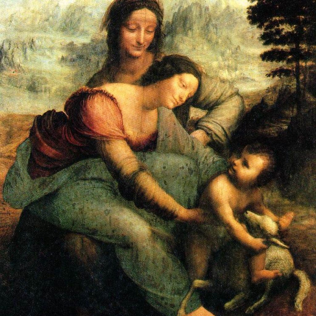 La Vierge et son enfant avec St Anne - De Vinci
