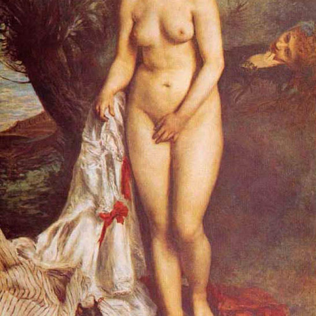 La baigneuse au griffon - Renoir