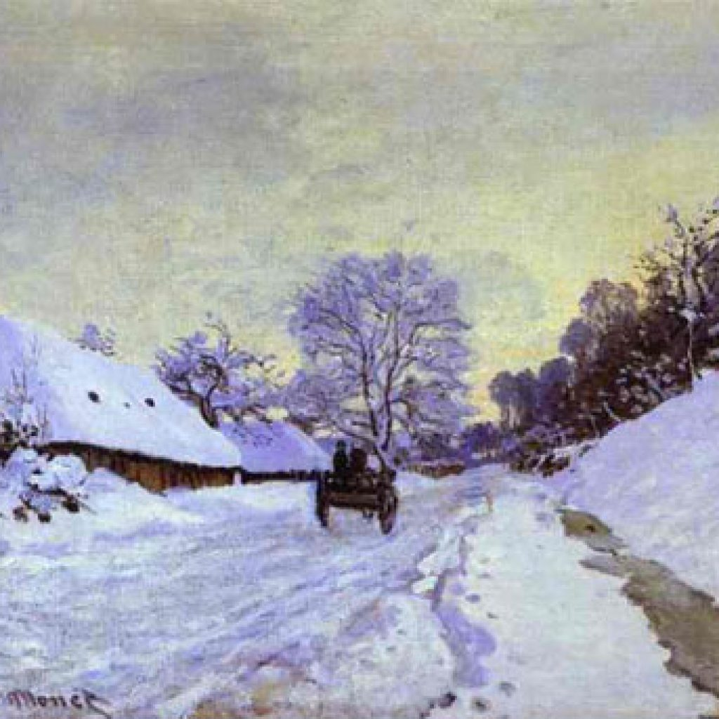 La charrette - Monet