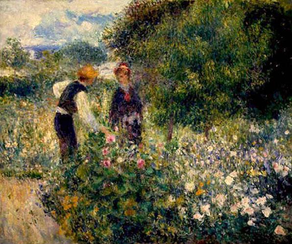 La cueuillette des fleurs - Renoir