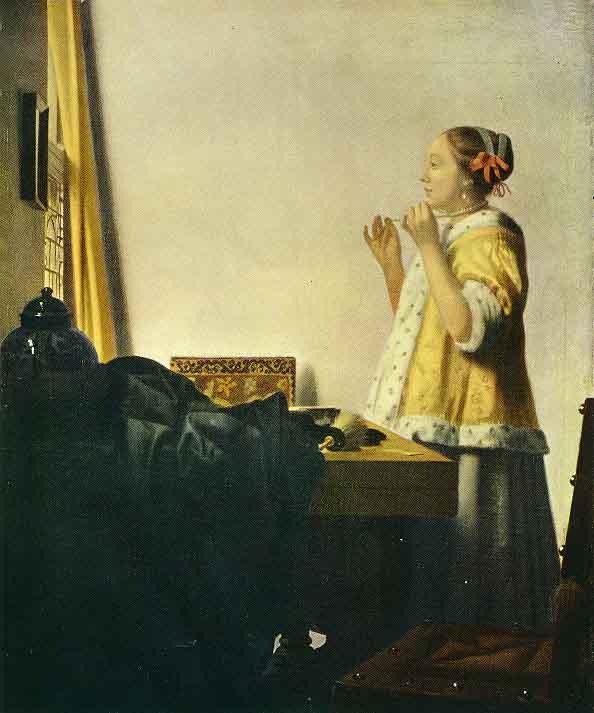 La dame au collier de perles - Vermeer