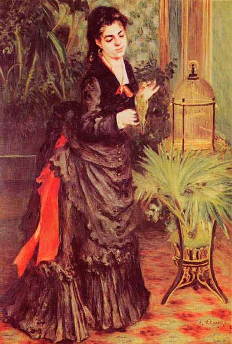 La femme à la perruche - Renoir