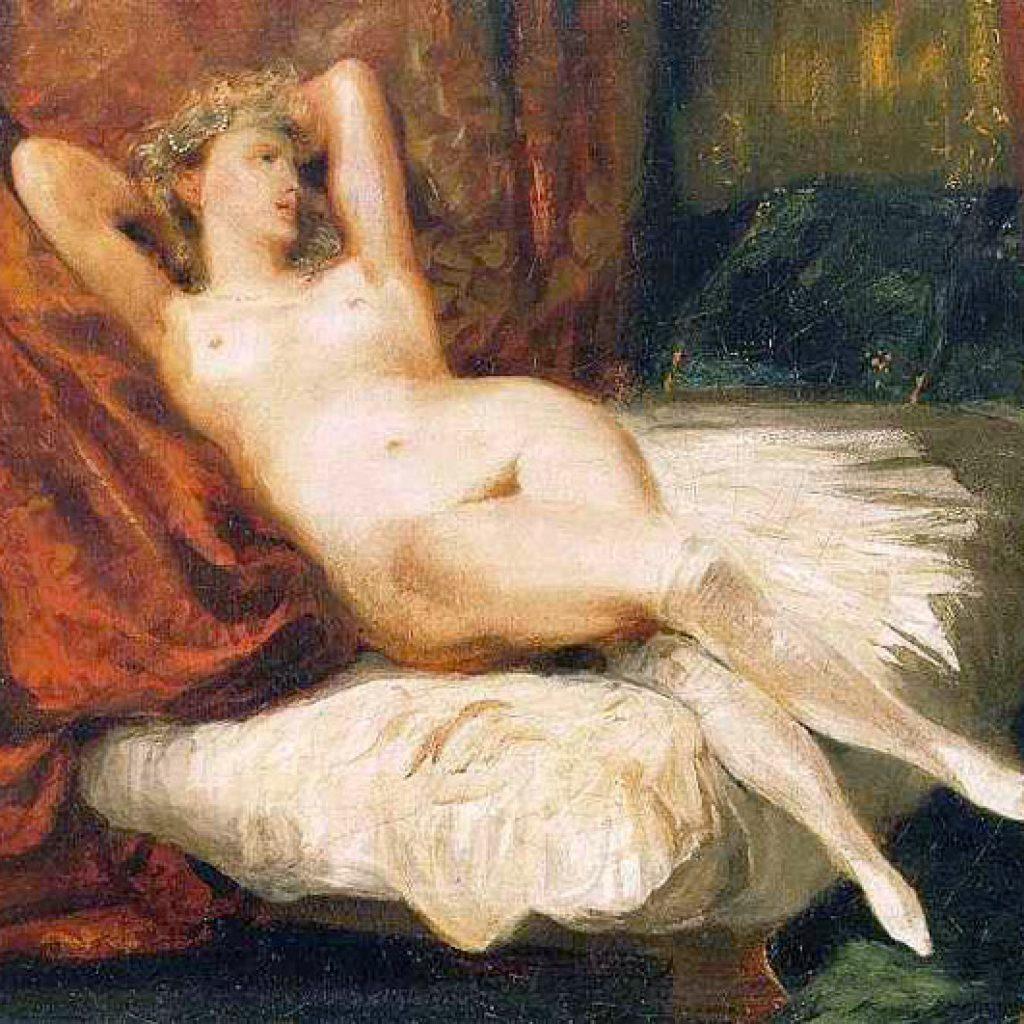 La femme aux bas blancs - Delacroix