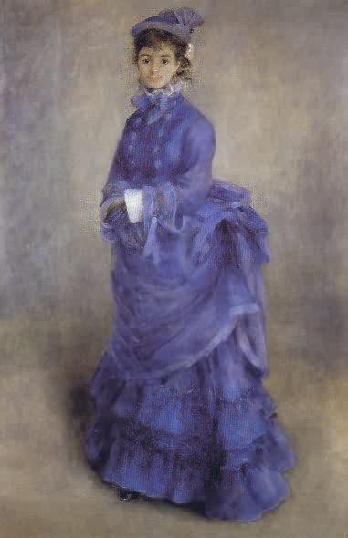 La femme en bleu - Renoir