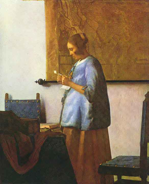 La femme en bleu lisant une lettre - Vermeer