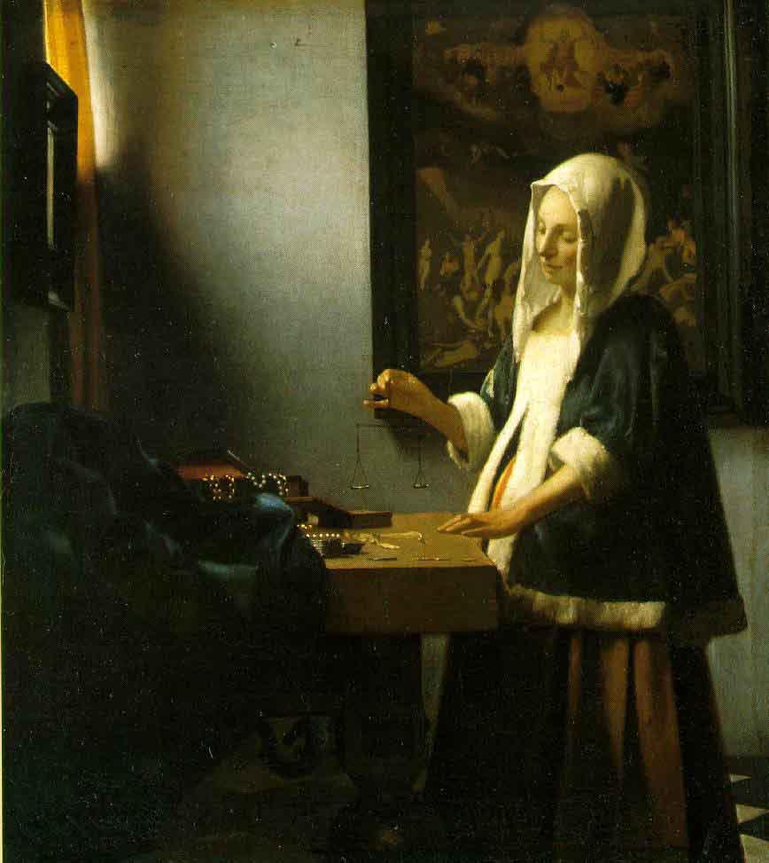 La femme portant une balance - Vermeer