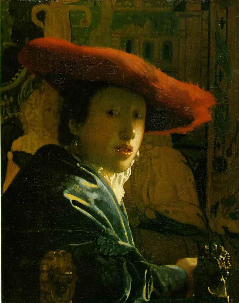 La fille au chapeau rouge - Vermeer