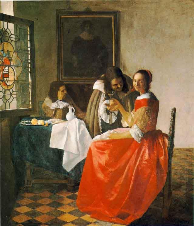 La jeune fille au verre de vin - Vermeer