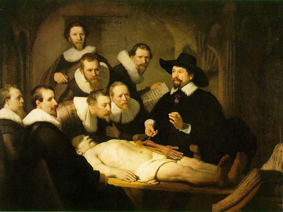 La leçon d'anatomie du Dr Tulp - Rembrandt