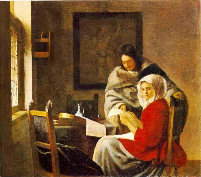La leçon de musique interrompue - Vermeer