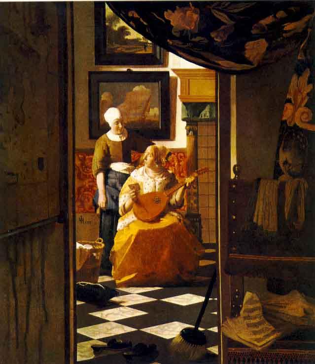 La lettre d'amour - Vermeer
