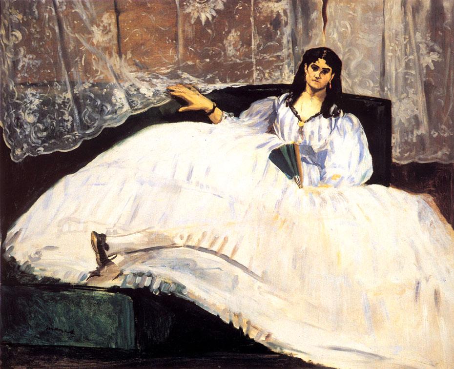 La maîtresse de Baudelaire allongée - Manet
