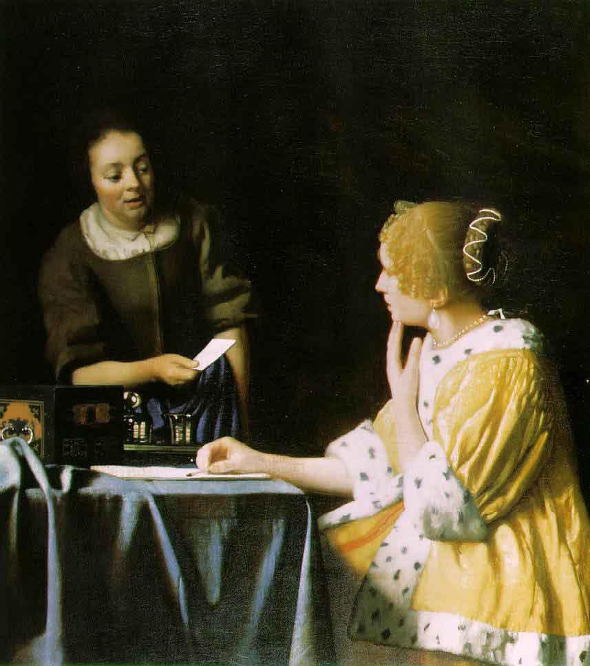 La maîtresse et la servante - Vermeer