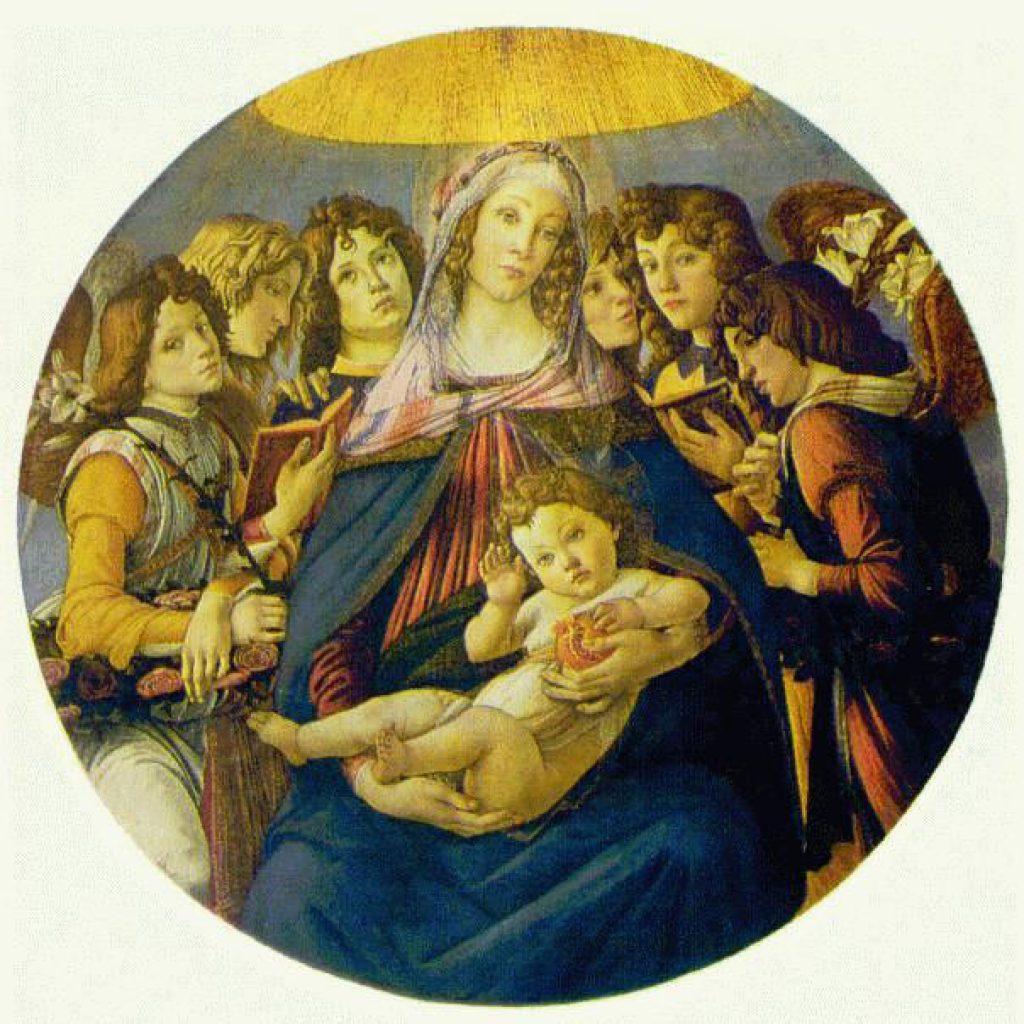 La madone de Pomegranate - Botticelli