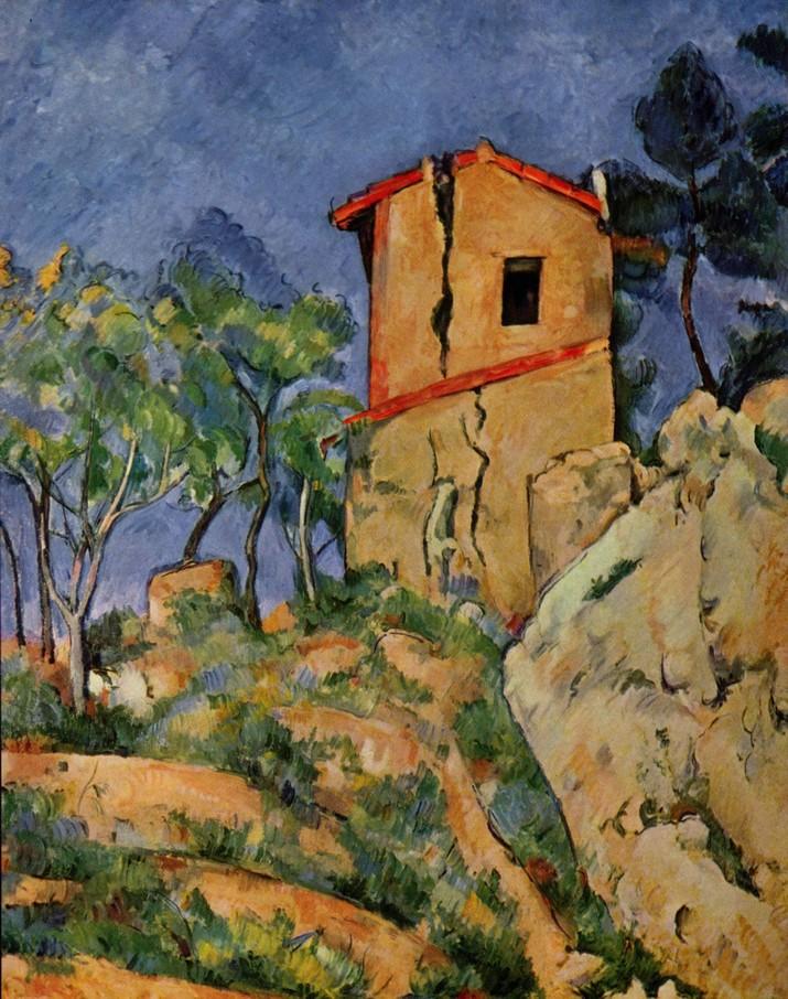 La maison au murs fendus - Cézanne