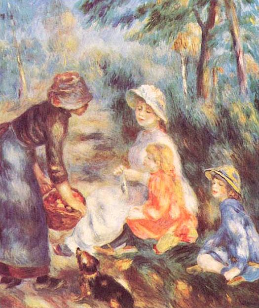 La marchande de pomme - Renoir