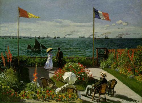La plage de Sainte-Adresse - Monet