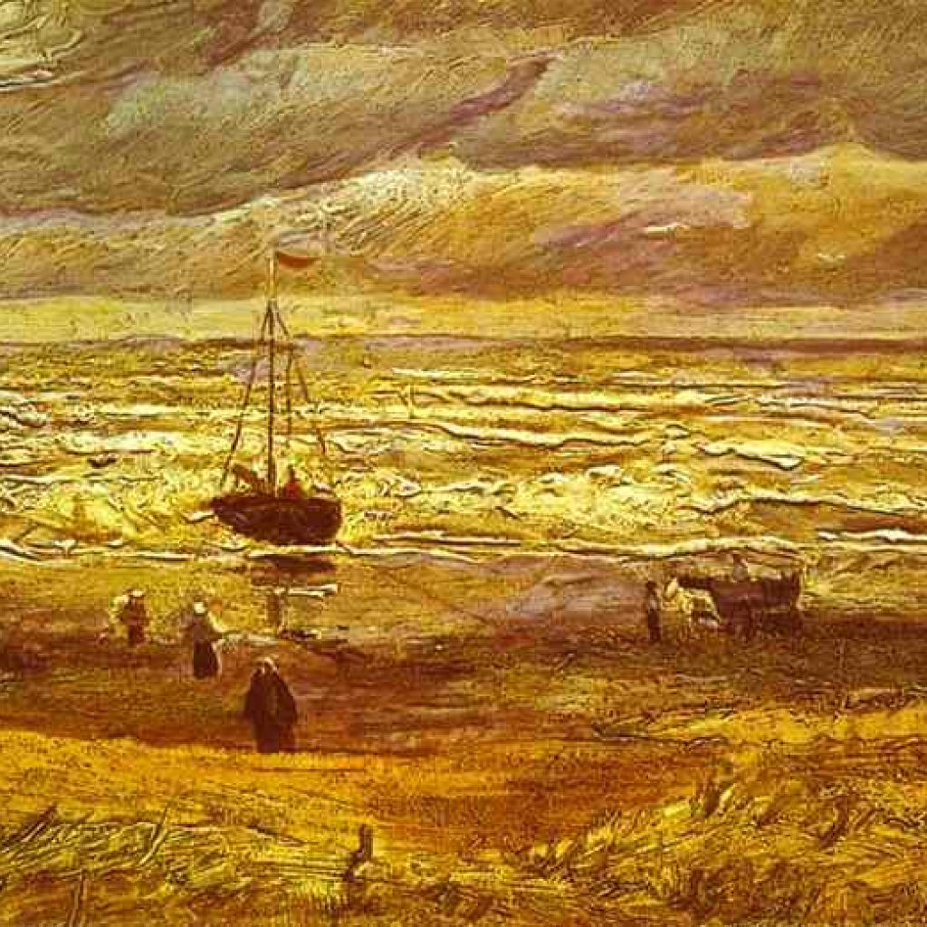 La plage de Schéveningue - Van Gogh