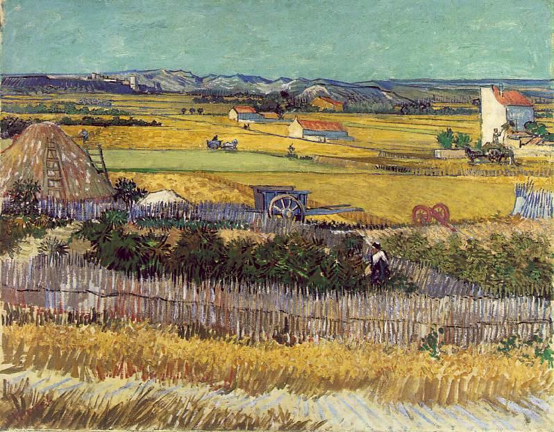 La plaine de la Crau avec la ruine de Montmajour - Van Gogh