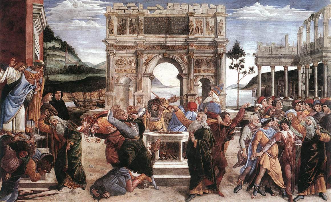 La punition de Korah - Botticelli