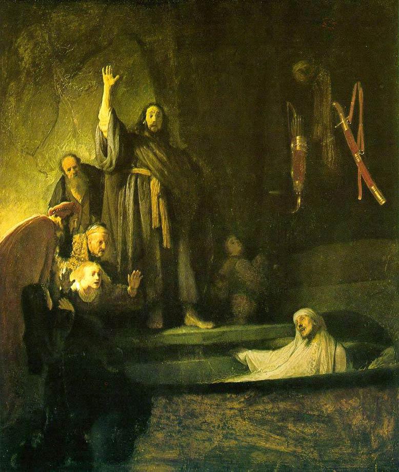 La résurection de Lazare - Rembrandt