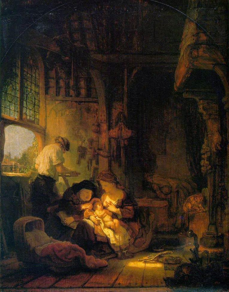 La sainte famille - Rembrandt
