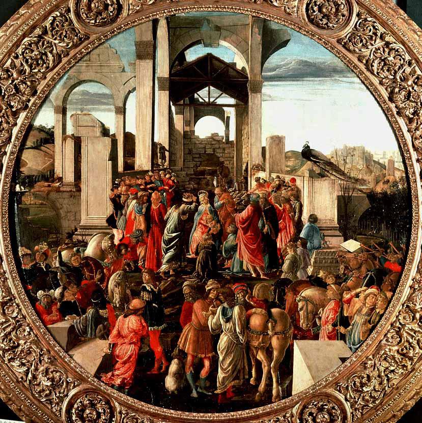 L'adoration des mages - Botticelli