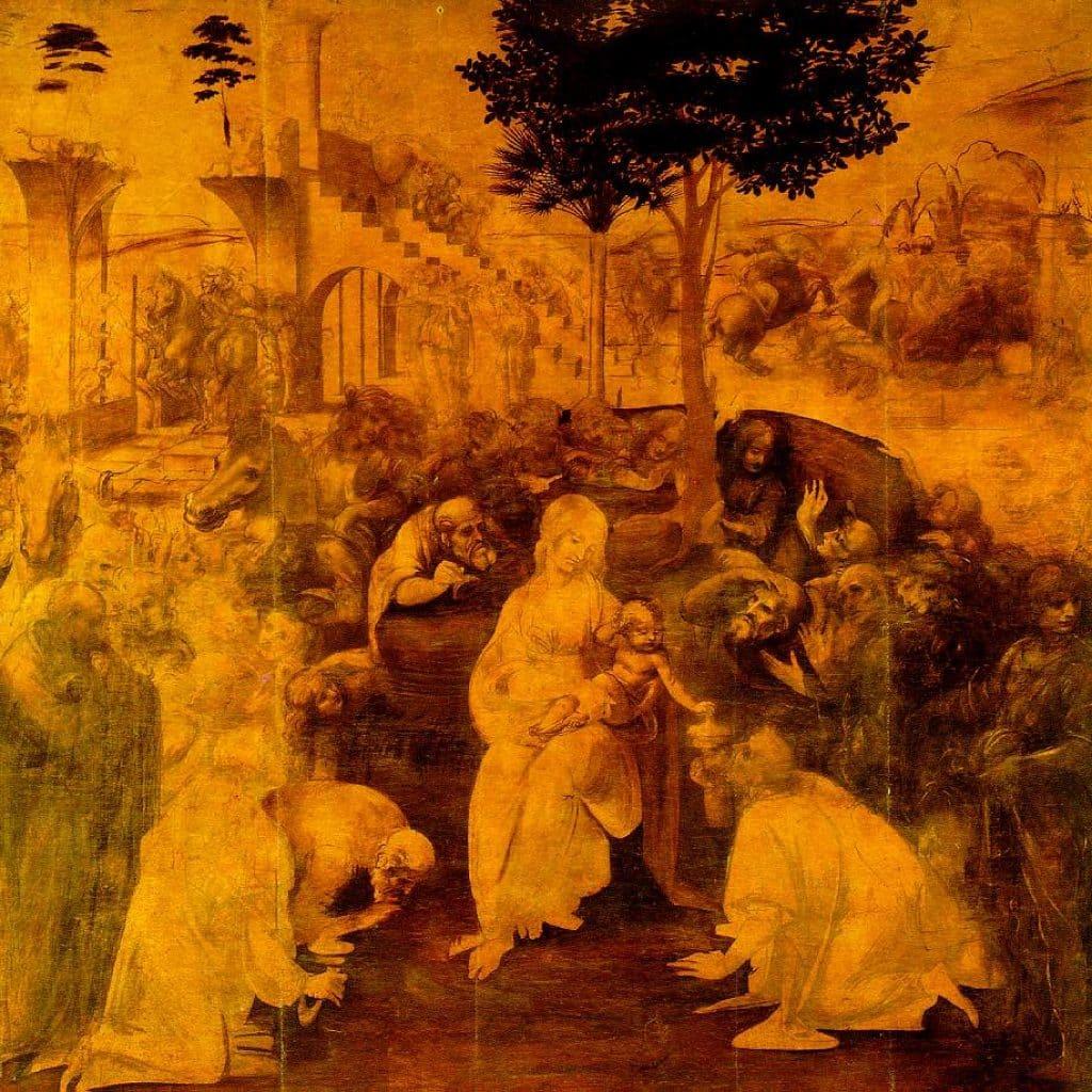 L'adoration des mages - De Vinci