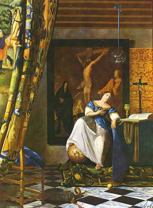 L'allégorie de la foi - Vermeer
