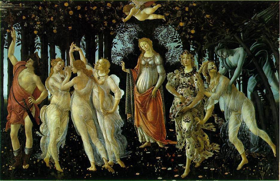 L'allégorie de printemps - Botticelli