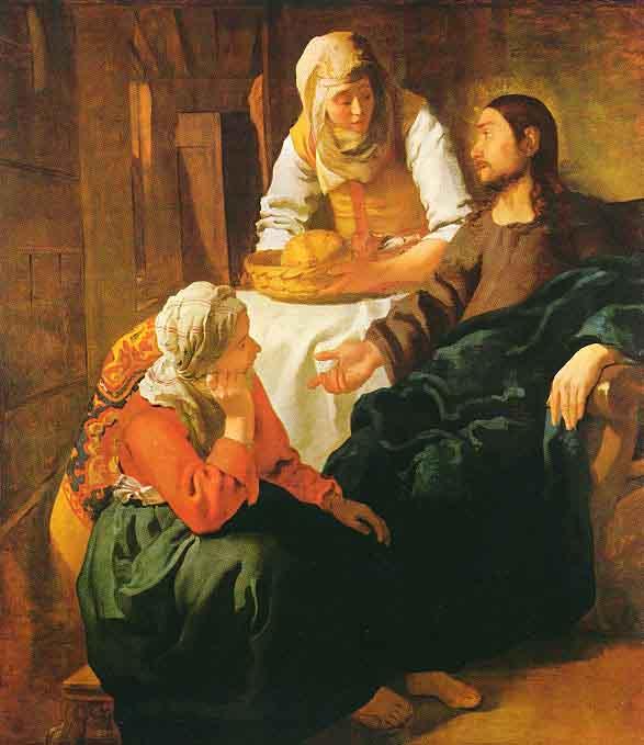 Le Christ dans la maison de Marthe et Marie - Vermeer