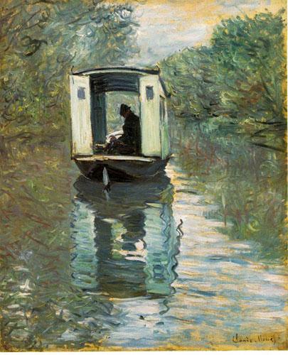 Le bateau atelier - Monet